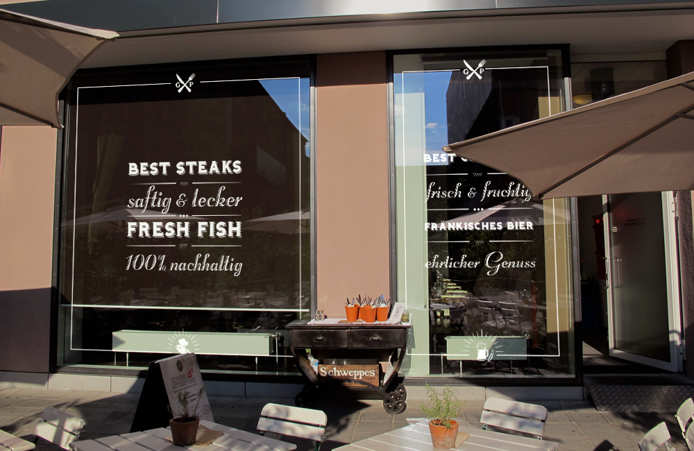 Restaurant window decals